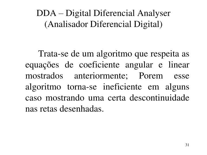 DDA – Digital Diferencial Analyser