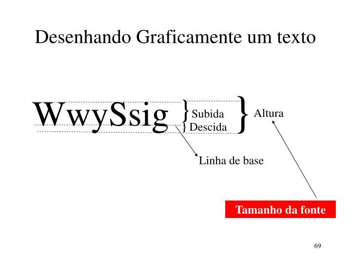 Desenhando Graficamente um texto