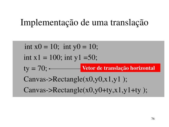 Implementação de uma translação
