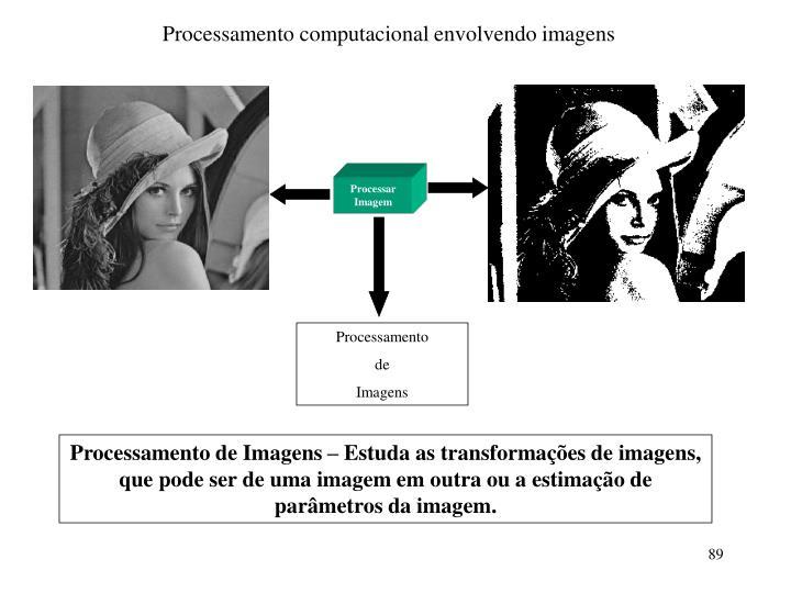 Processamento computacional envolvendo imagens