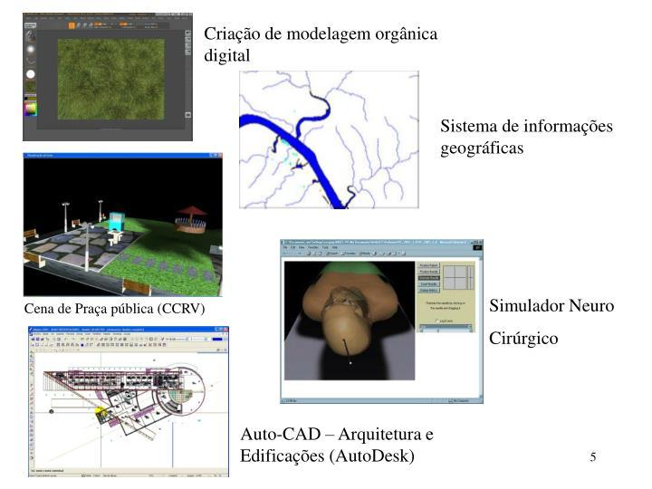 Criação de modelagem orgânica digital