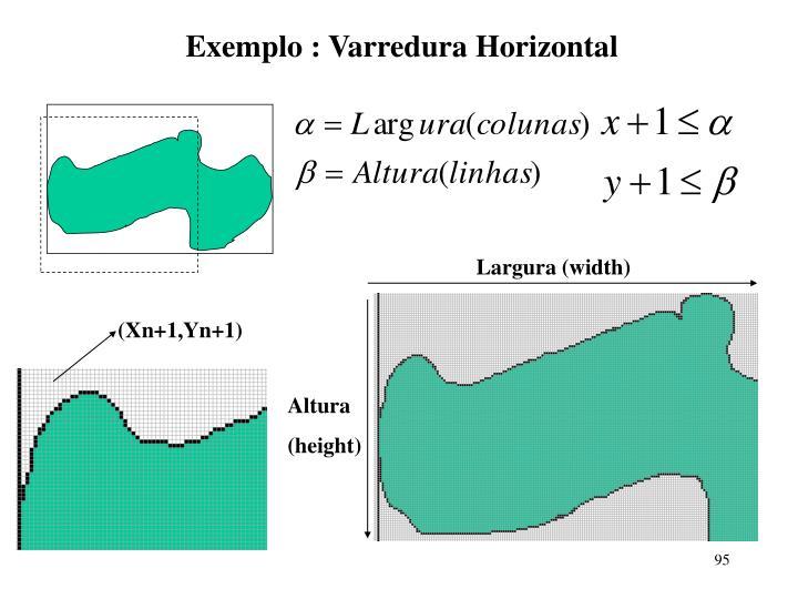 Exemplo : Varredura Horizontal