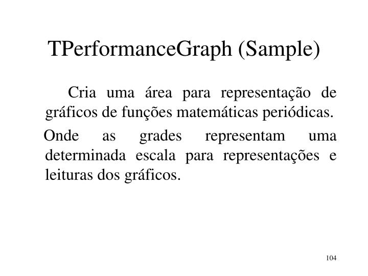TPerformanceGraph (Sample)