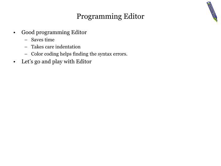 Programming Editor