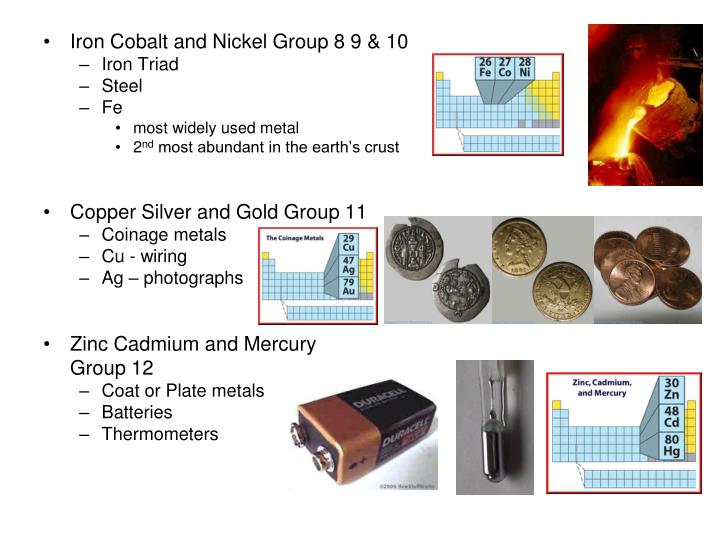 Iron Cobalt and Nickel Group 8 9 & 10