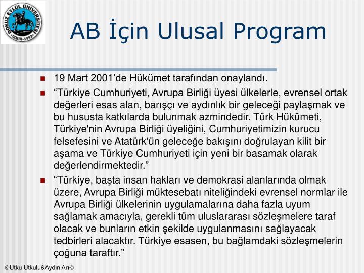 AB İçin Ulusal Program