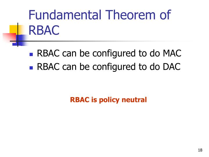 Fundamental Theorem of RBAC