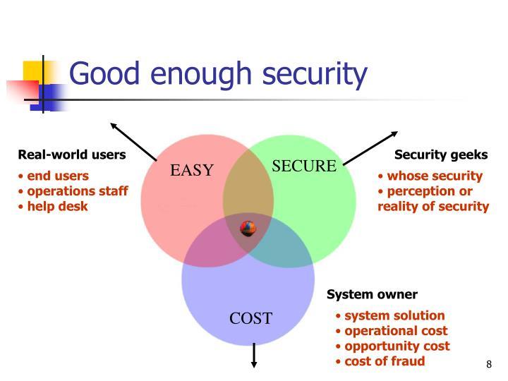 Good enough security
