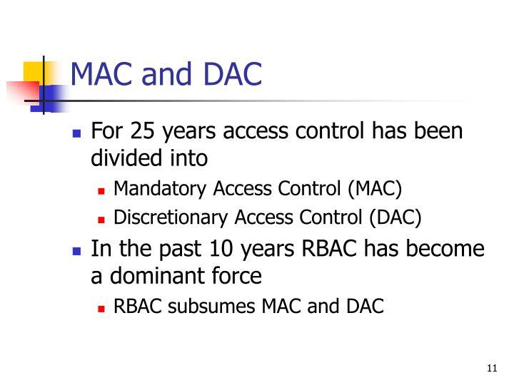 MAC and DAC