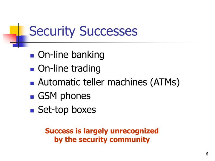 Security Successes