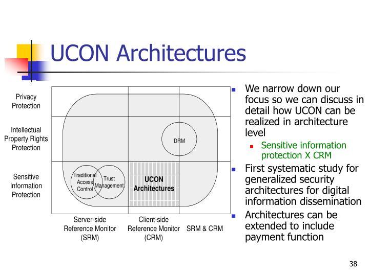 UCON Architectures