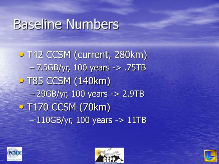 Baseline Numbers
