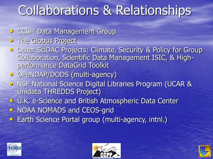 Collaborations & Relationships