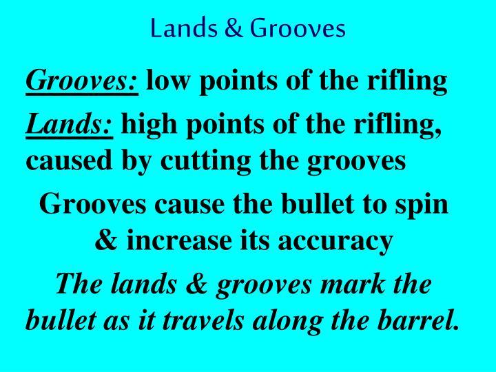Lands & Grooves