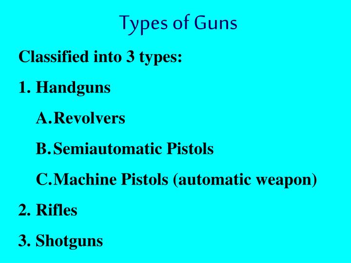 Types of Guns