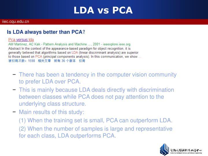 LDA vs PCA