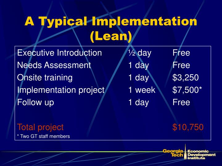 A Typical Implementation (Lean)