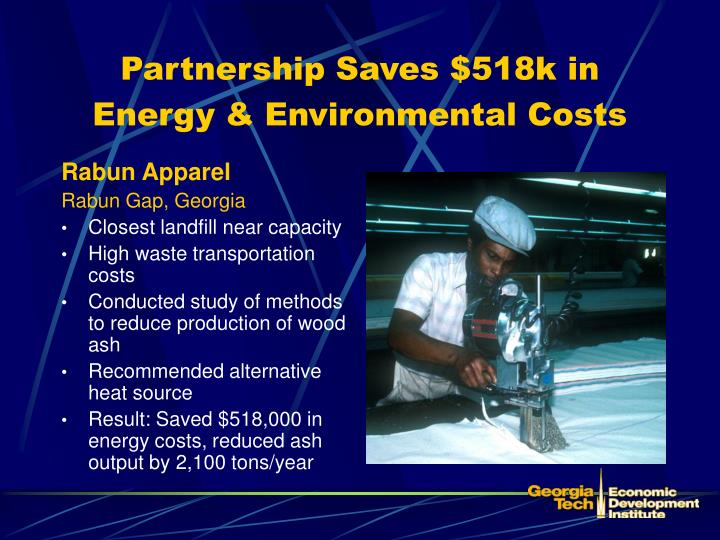 Partnership Saves $518k in Energy & Environmental Costs