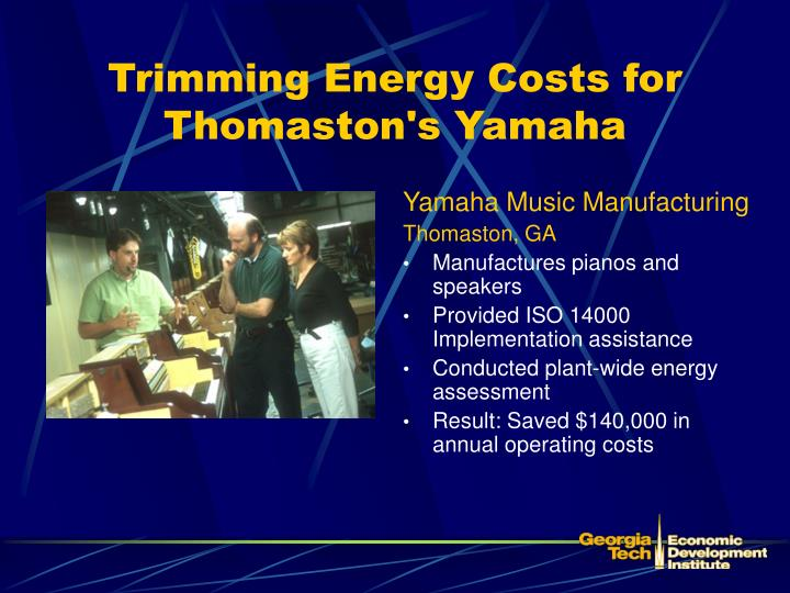 Trimming Energy Costs for Thomaston's Yamaha