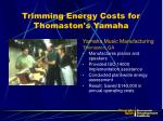 trimming energy costs for thomaston s yamaha