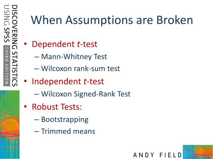 When Assumptions are Broken