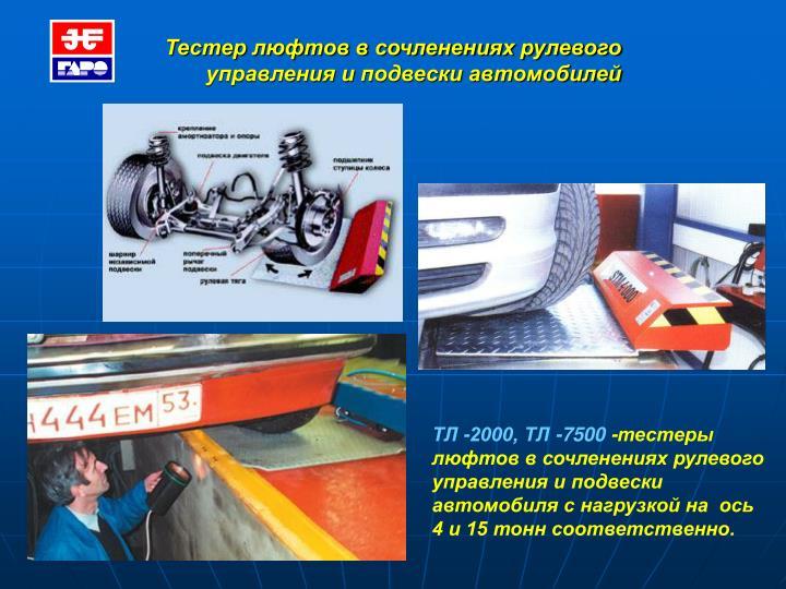 Тестер люфтов в сочленениях рулевого