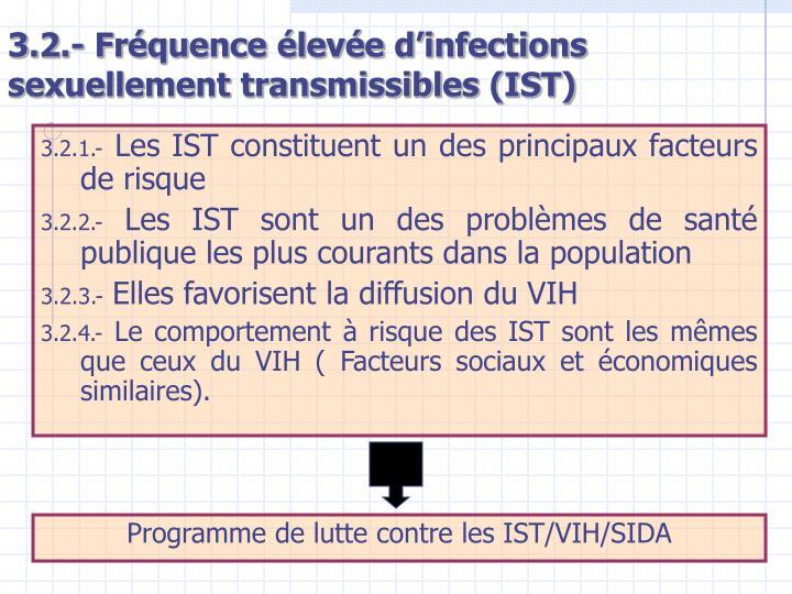 3.2.- Fréquence élevée d'infections sexuellement transmissibles (IST)