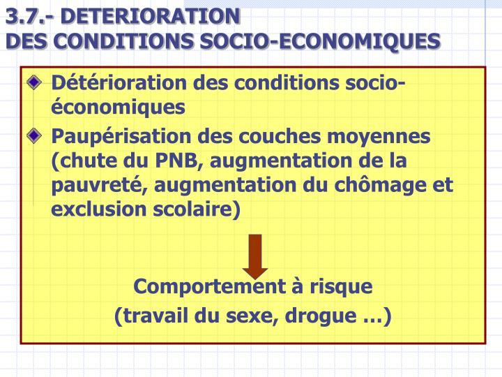 3.7.- DETERIORATION