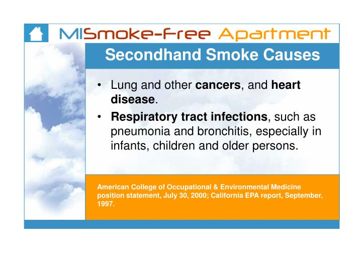 Secondhand Smoke Causes