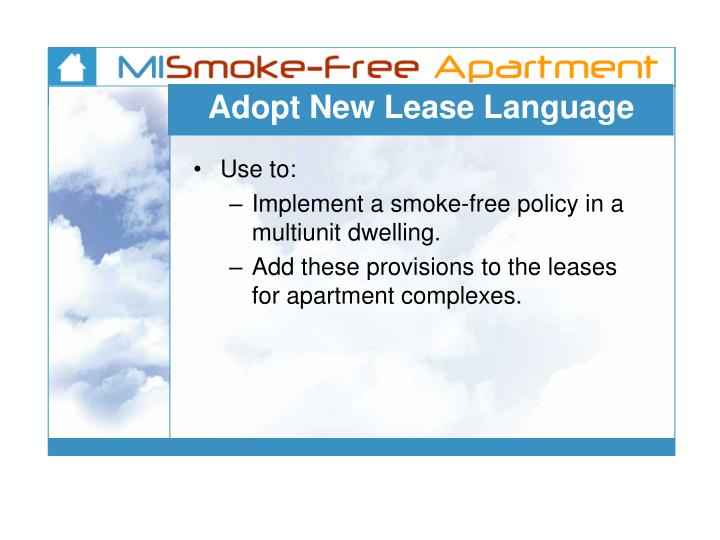 Adopt New Lease Language