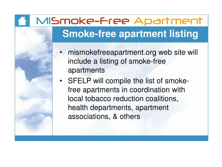 Smoke-free apartment listing