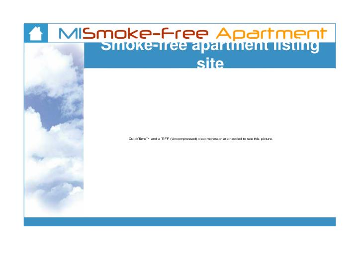 Smoke-free apartment listing site