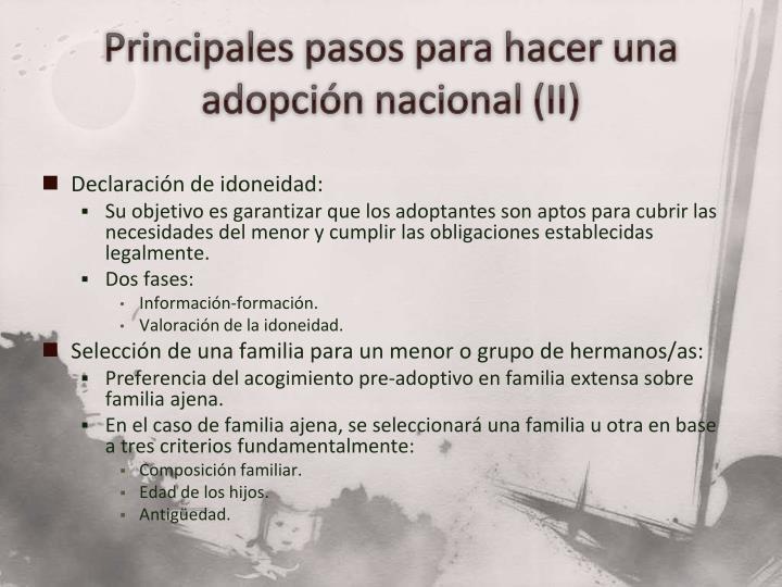Principales pasos para hacer una adopción nacional (