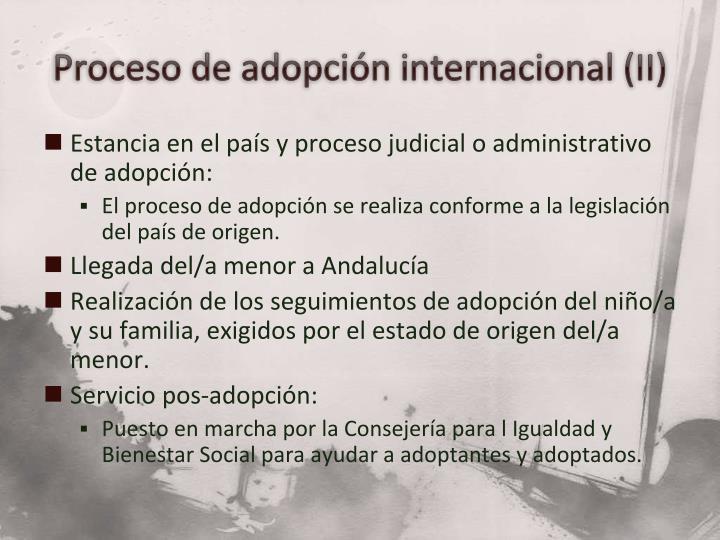 Proceso de adopción internacional (