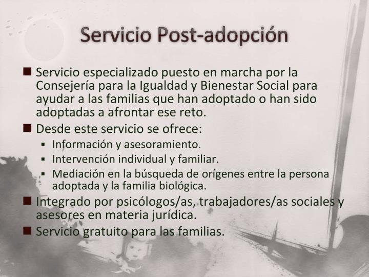 Servicio Post-adopción