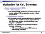 motivation for xml schemas
