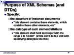 purpose of xml schemas and dtds