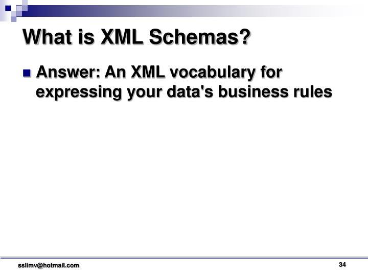 What is XML Schemas?
