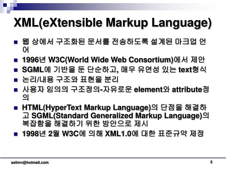 XML(eXtensible Markup Language)
