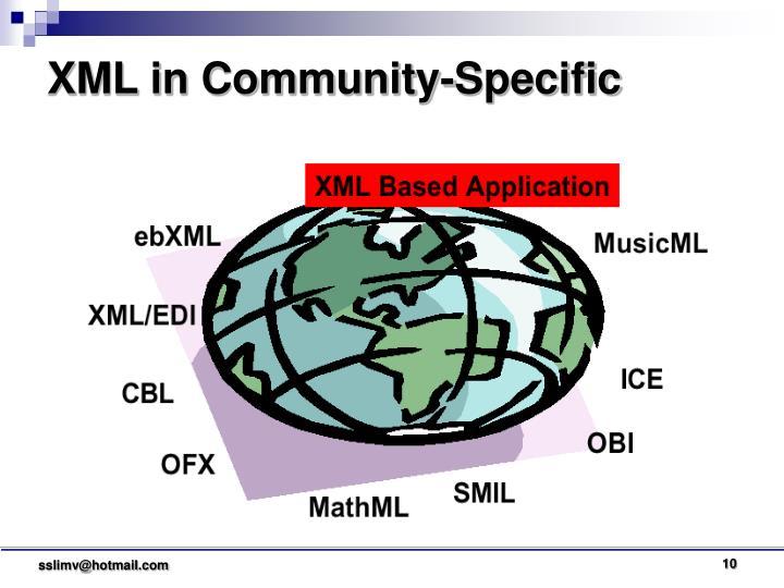 XML in Community-Specific