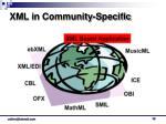 xml in community specific