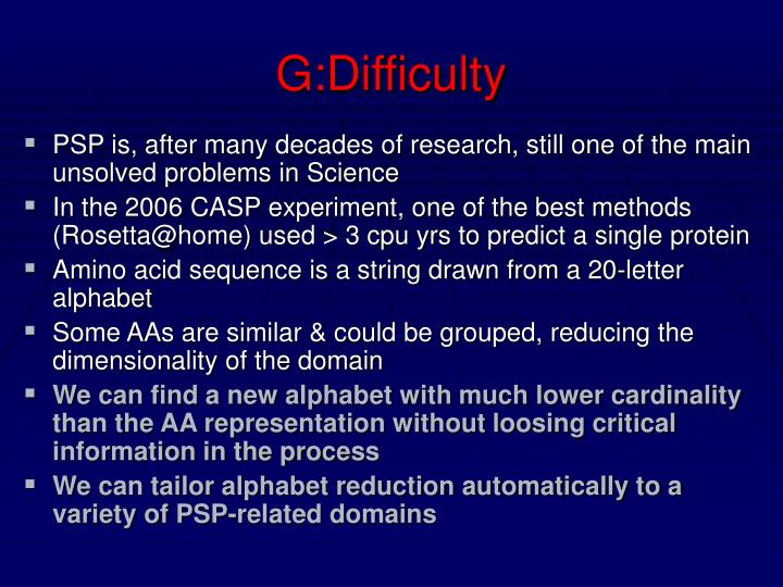 G:Difficulty