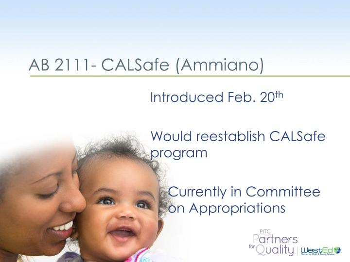 AB 2111- CALSafe (Ammiano)