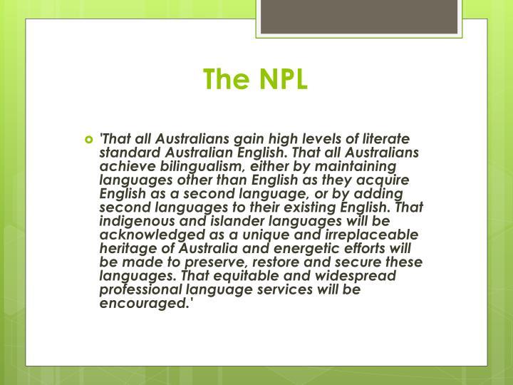 The NPL