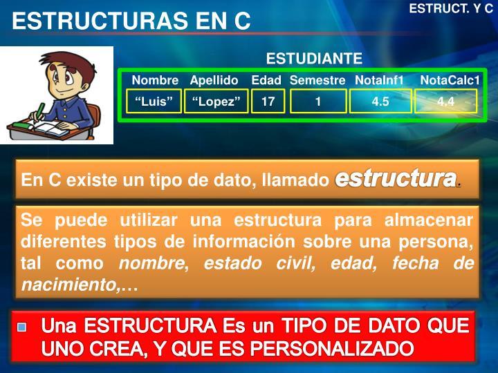 ESTRUCT. Y C