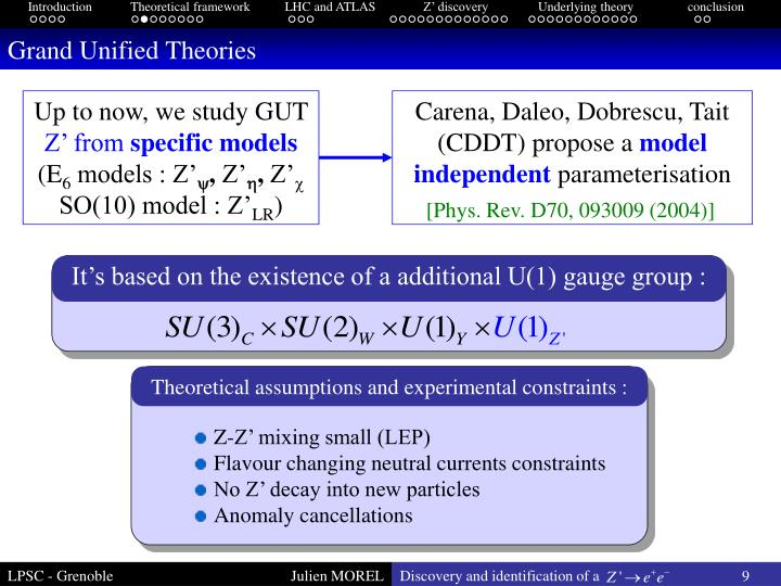 Theoretical assumptions and experimental constraints :