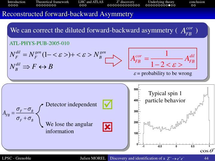Reconstructed forward-backward Asymmetry