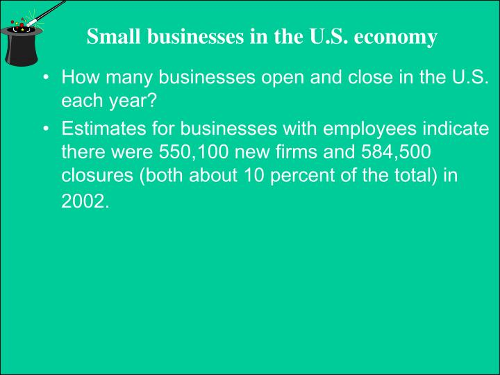 How many businesses open and close in the U.S. each year?