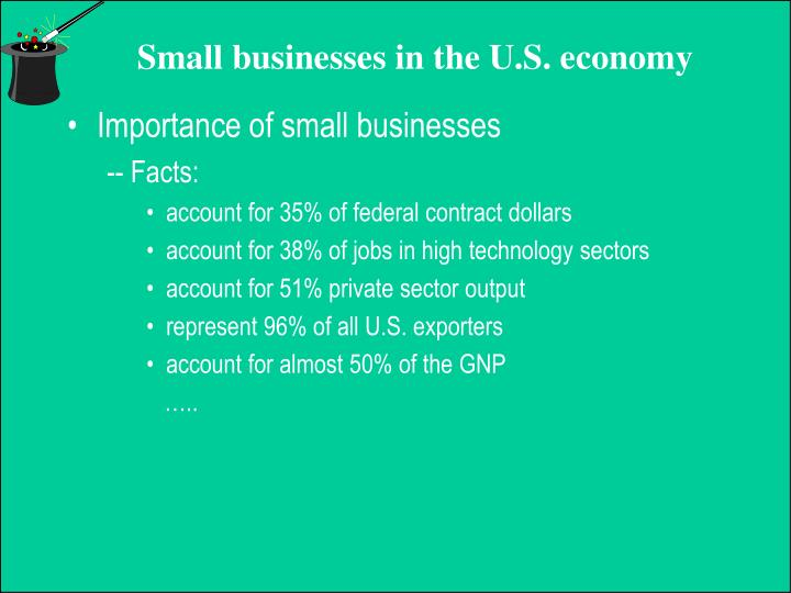 Importance of small businesses