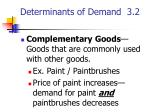 determinants of demand 3 24